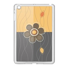 Floral Design Apple Ipad Mini Case (white) by EveStock