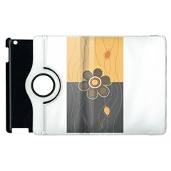 Floral Design Apple Ipad 2 Flip 360 Case