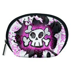 Cartoon Skull  Accessory Pouch (medium) by ArtistRoseanneJones