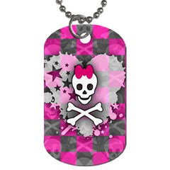 Princess Skull Heart Dog Tag (one Sided)