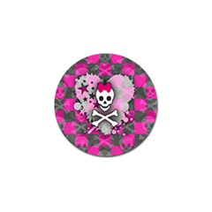 Princess Skull Heart Golf Ball Marker
