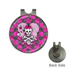 Princess Skull Heart Hat Clip With Golf Ball Marker