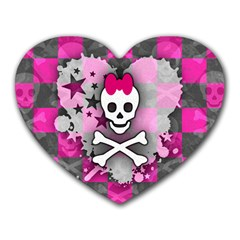 Princess Skull Heart Mouse Pad (heart)