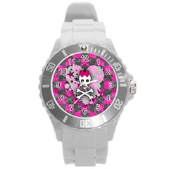 Princess Skull Heart Plastic Sport Watch (large)