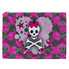 Princess Skull Heart Cosmetic Bag (xxl)
