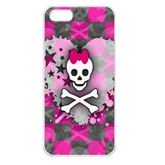 Princess Skull Heart Apple Iphone 5 Seamless Case (white)