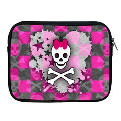 Princess Skull Heart Apple Ipad Zippered Sleeve