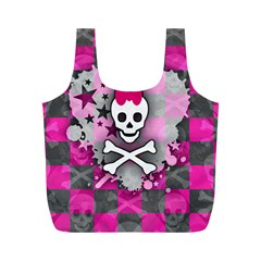 Princess Skull Heart Reusable Bag (m)