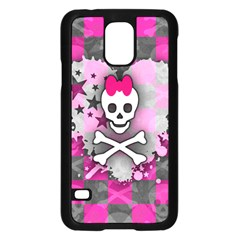 Princess Skull Heart Samsung Galaxy S5 Case (black)