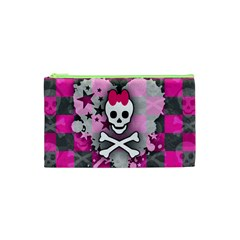Princess Skull Heart Cosmetic Bag (xs)