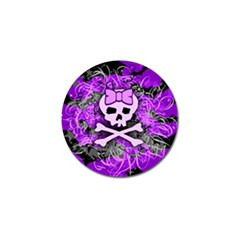 Purple Girly Skull Golf Ball Marker 10 Pack by ArtistRoseanneJones