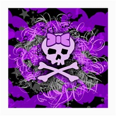 Purple Girly Skull Glasses Cloth (medium, Two Sided)