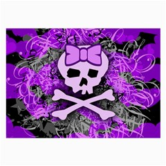 Purple Girly Skull Glasses Cloth (large)