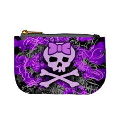Purple Girly Skull Coin Change Purse