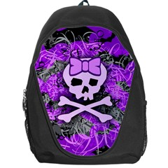 Purple Girly Skull Backpack Bag