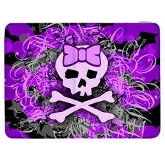 Purple Girly Skull Samsung Galaxy Tab 7  P1000 Flip Case