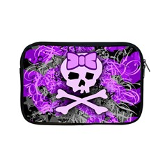 Purple Girly Skull Apple Ipad Mini Zippered Sleeve