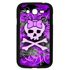 Purple Girly Skull Samsung Galaxy Grand Duos I9082 Case (black) by ArtistRoseanneJones