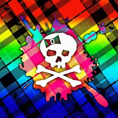 Rainbow Plaid Skull Canvas 12  X 12  (unframed)