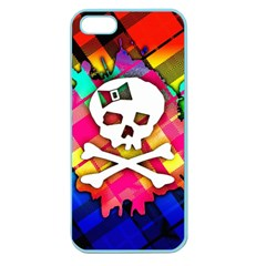 Rainbow Plaid Skull Apple Seamless Iphone 5 Case (color)