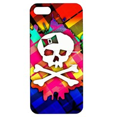 Rainbow Plaid Skull Apple Iphone 5 Hardshell Case With Stand