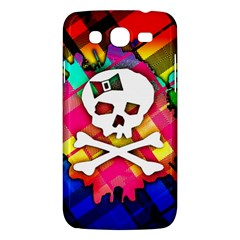 Rainbow Plaid Skull Samsung Galaxy Mega 5 8 I9152 Hardshell Case