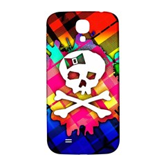 Rainbow Plaid Skull Samsung Galaxy S4 I9500/i9505  Hardshell Back Case by ArtistRoseanneJones