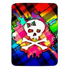 Rainbow Plaid Skull Samsung Galaxy Tab 3 (10 1 ) P5200 Hardshell Case