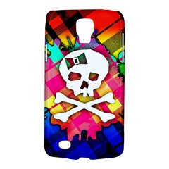 Rainbow Plaid Skull Samsung Galaxy S4 Active (i9295) Hardshell Case by ArtistRoseanneJones