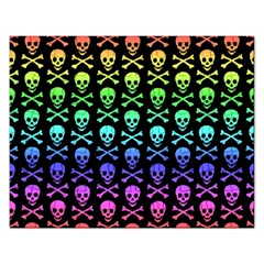 Rainbow Skull And Crossbones Pattern Jigsaw Puzzle (rectangle) by ArtistRoseanneJones