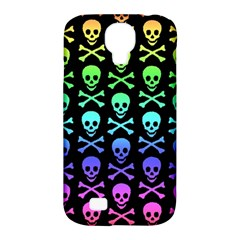Rainbow Skull And Crossbones Pattern Samsung Galaxy S4 Classic Hardshell Case (pc+silicone) by ArtistRoseanneJones