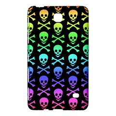Rainbow Skull And Crossbones Pattern Samsung Galaxy Tab 4 (8 ) Hardshell Case  by ArtistRoseanneJones
