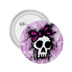 Sketched Skull Princess 2 25  Button by ArtistRoseanneJones