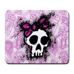 Sketched Skull Princess Large Mouse Pad (Rectangle)