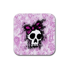 Sketched Skull Princess Drink Coasters 4 Pack (Square)
