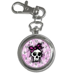 Sketched Skull Princess Key Chain Watch by ArtistRoseanneJones