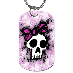 Sketched Skull Princess Dog Tag (one Sided) by ArtistRoseanneJones