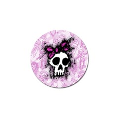 Sketched Skull Princess Golf Ball Marker by ArtistRoseanneJones