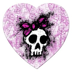 Sketched Skull Princess Jigsaw Puzzle (heart)