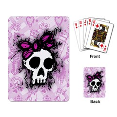 Sketched Skull Princess Playing Cards Single Design