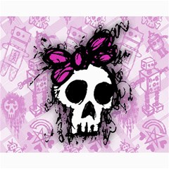 Sketched Skull Princess Canvas 16  X 20  (unframed)