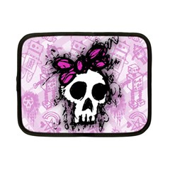 Sketched Skull Princess Netbook Sleeve (small) by ArtistRoseanneJones