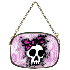 Sketched Skull Princess Chain Purse (One Side)