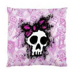 Sketched Skull Princess Cushion Case (Single Sided)