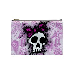 Sketched Skull Princess Cosmetic Bag (medium)