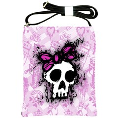 Sketched Skull Princess Shoulder Sling Bag