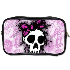 Sketched Skull Princess Travel Toiletry Bag (Two Sides)