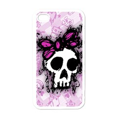Sketched Skull Princess Apple iPhone 4 Case (White)