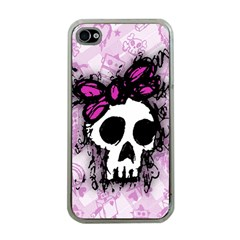 Sketched Skull Princess Apple iPhone 4 Case (Clear)