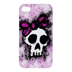 Sketched Skull Princess Apple iPhone 4/4S Premium Hardshell Case